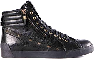 DIESEL Stivaletto Uomo D-String Plus Zip Leather Black