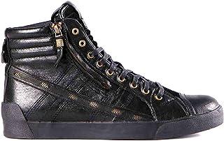 DIESEL Stivaletto Uomo D-String Plus Zip Leather Black