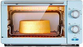 L.TSA Cocina 1000W Hogar Mini Horno eléctrico multifunción 11L Temperatura controlable 100-230 ℃ y Temporizador de 60 Minutos Caja de Hornear de Pan Inteligente Puerta de Vidrio Templado con acces