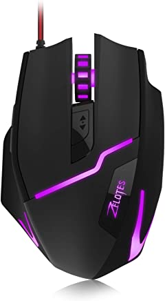 Comfortable Grip Ergonomic Optical PC Computer Gaming Mice XZYP Gaming Mouse Wired 4000 DPI Adjustable Chroma RGB Backlit 8 Programmable Buttons