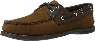 Mens A/O 2-Eye Boat Shoe, Brown/Buc Brown, 10.5
