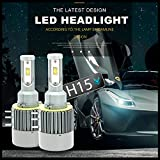 FSGT H15 LED HeadLight Kit, 110W Seoul CSP Chips 12000LM H15 LED Conversion
