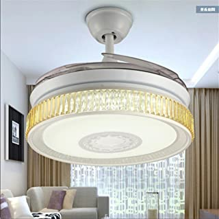 H&M Lámparas de araña lámpara de habitación Ventilador de Techo luz Invisible salón Comedor con LED Sencilla lámpara Ventilador hogar Moderno, 42 Inches + Remote Control 72w