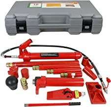 PARTS-DIYER Red Porta Power Hydraulic Jack Auto Body Frame Repair Kit, 10 Ton Capacity