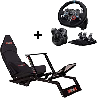 Next Level Racing F1 GT Formula 1 and GT Simulator Cockpit Gaming Chair + Logitech G29 Racing Wheel + Shifter