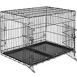 TecTake Cage de Transport pour Chien-Box grillagé | 2 Grandes Portes Équipées de...
