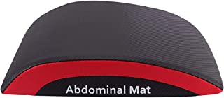 CLISPEED Abdominal Sit Up Pad Foldable Back Support Core Trainer Cushion for Gym Workouts Fitness Yoga CrossFit (Black Red)