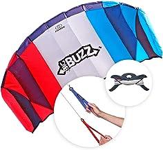 FLEXIFOIL 2.05m Power Kite Big Buzz Sport Foil   Kids & Adult Kiting   Beach Summer Trick Kites   Outside Stunt Toy   Outd...