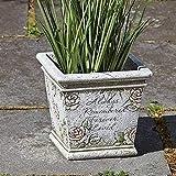 Roman Memorial Planter with Verse Garden, 7-inch