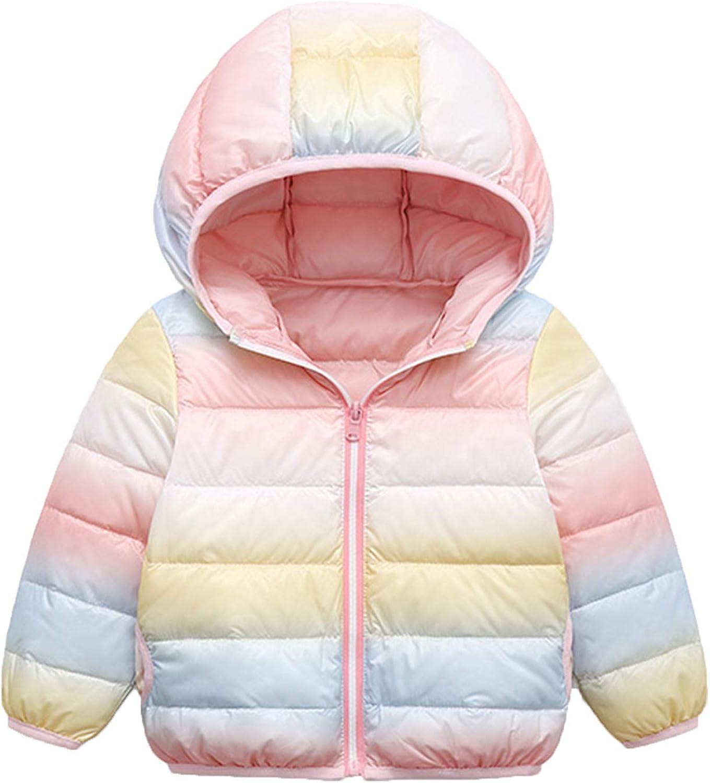 MysterLuna Toddler Boys Girls Hooded Coat Winter Warm Down Jacket Padded Cotton Coat 2-7T