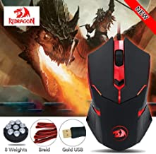 MTOFAGF Redragon M601 CENTROPHORUS-3200 DPI Gaming Mouse for PC 6 Buttons Weight Tuning MTOFAGF Brings You The Best