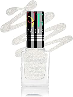 Coat Me Bonjour Paris Pearly Shine Glitter Finish with 3D Effect Quick Dry (White Stars, 9 ml)
