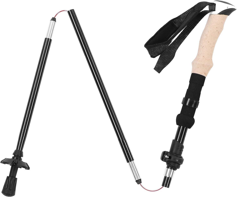 YUUGAA Folding Hiking Stick Telescopic Trekking Poles Po Gifts Import