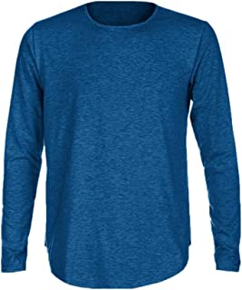 Realdo Mens Casual Slim Fit O Neck Long Sleeve Muscle Tee T-Shirt Casual Tops Blouse