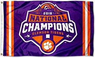 College Flags and Banners Co. Clemson Tigers Football 2018 National Championship Flag