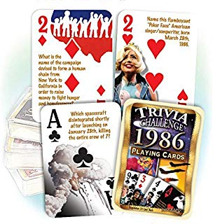 Flickback Media, Inc. 1986 Trivia Playing Cards: Great Birthday Gift