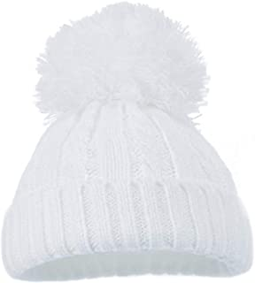 Baby Boys Girls Pom Pom Hat Pom Pom /& Diamontes Bow Hat H4608