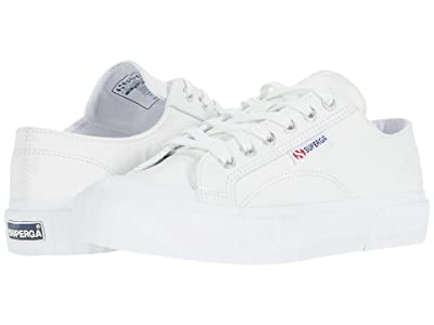 Superga 2630 Cownappau Sneaker (White Leather) Women