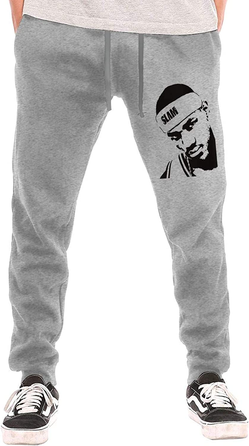 BarWords Men's Casual Sweatpants 23ClevelandCavaliersLebron James Jogger Pants Gym Workout Running Sportswear Trousers