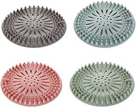 VORCOOL 4 Stks TPR Afvoer Cover Badkamer Haarvanger Siliconen Riool Filter Voor Thuis Keuken Douche Gootsteen Protector (D...