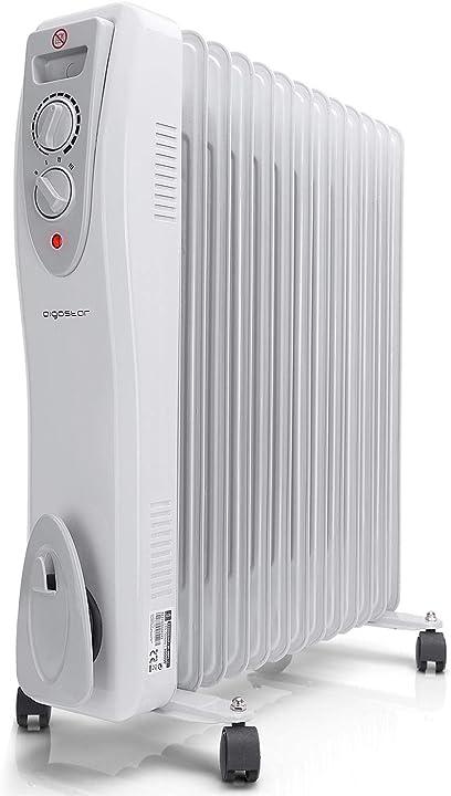 Radiatore ad olio portatile a basso consumo, safe heat a 3000w aigostar B0728JBJLJ