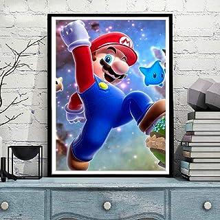 キャンバスアート壁ポスター アニメ漫画スーパーブラザーゲーム 海报 绘画 帆布艺术 室内装饰 壁挂 墙壁海报 HD时尚海报