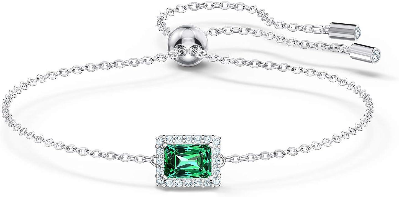 開店祝い オーバーのアイテム取扱☆ SWAROVSKI Angelic Rectangular Bracelet Size Green One