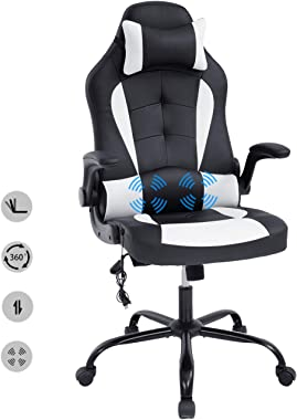 HCB Office Chair, Gaming Chair, Ergonomic Computer Desk Chair High Back Rolling Swivel Height Adjustable with Flip-Up Arms, H