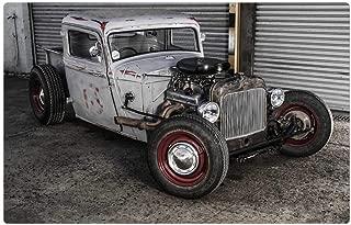 Indoor Floor Rug/Mat (23.6 x 15.7 Inch) - Vehicle Rat Rod Hot Rod Transport Fast Custom Car