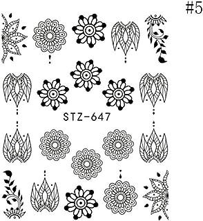 AIUIN 15/pi/èces Autocollant /à Ongles Motif de Hibou Flamme Oiseau Chasse de clouer Tip Guides Autocollants Set avec Ongles de manucure