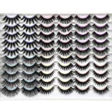 Winifred False Eyelashes Fluffy Natural False Lashes Pack 30 Pairs 6 Styles 3D Faux Mink Lashes Volume Wispy Lashes