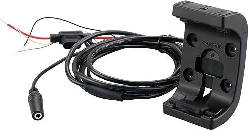 Garmin - Support pour GPS Moto Avec câble d'alimentation/audio - Noir