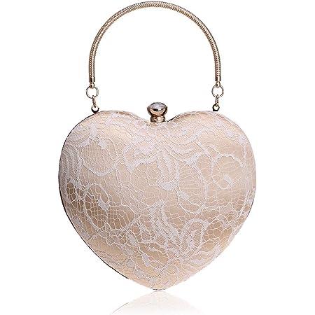 NICOLE & DORIS Abendtasche Damen Abend Clutch Satin Strass Exquisit Handtasche für Party Taschen für Hochzeit sketten Tasche