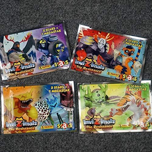 D88, 2bags 5*5 cm Invizimals magnético nevera tarjeta ciega bolsa juguete niños colección juego acción figura