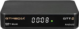 GT MEDIA GTT-2 Decodificador TDT Android 6.0 TV Box 4K Digital Receptor Terrestre DVB-T/T2 Smart TV Box Amlogic S905D Quad...