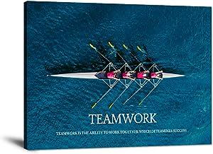 Inspirational Canvas Wall Art Inspiration Motivation Painting Motivational Quotes Modern Success Teamwork Posters Prints A...
