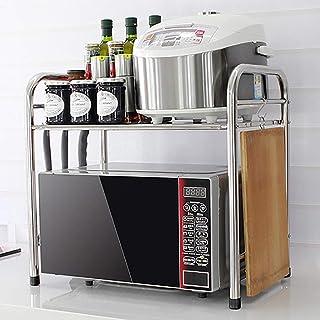 WSCC Grille de Four à Micro-Ondes Cuisine Rack, Acier Inoxydable Simple Couche Micro-Ondes Rack Four, Assaisonnement Finit...