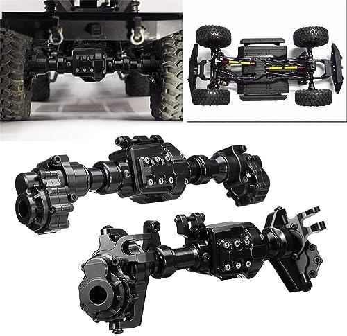 füronly CNC-gefr e Metalllegierung für Vorderachse und Hinterachse, Schwarz für TRX-4 Crawler RC Autoteile