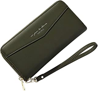 Wallet for Women Zip Around Wallet Clutch Wristlet Travel Long Purse for Ladies