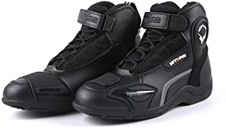 1Storm Mens Motorcycle Boots Rider Racing Black Hiking Trekking Outdoor Boots US 11
