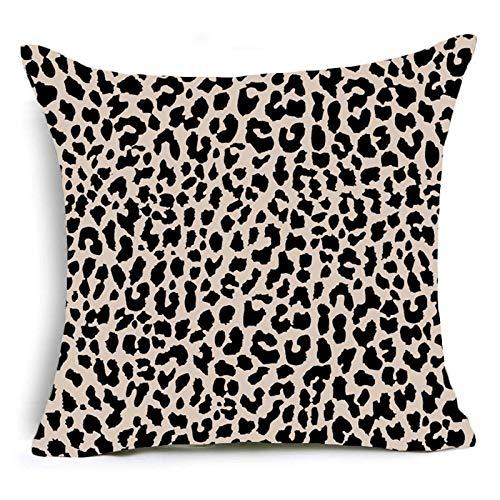 PPMP Funda de Almohada con Estampado Animal, Estampado de Leopardo, Tigre, Cebra, Ganado, Funda de cojín de Serpiente, Funda de Almohada Decorativa para sofá de casa, Funda de cojín A7 45x45cm 1pc