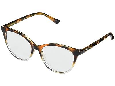 QUAY AUSTRALIA Chrissy X Quay All Nighter (Tort Clear/Clear Blue Light) Fashion Sunglasses
