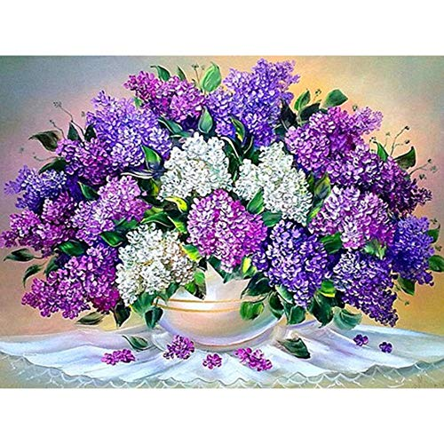5D DIY Diamond Painting Flower Vase Cross Stitch Kit Full Diamond Diamond Embroidery Mosaic Rose Art Diamond Painting A6 60x80cm