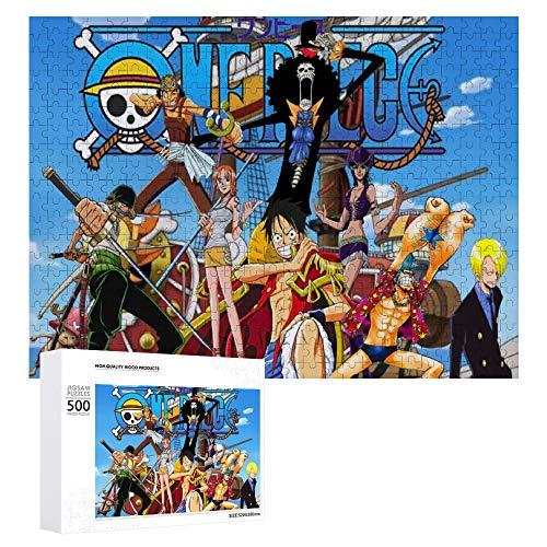 GD-SJK One Piece Puzzle de 1000 pièces, décoration murale, jeu intellectuel pour adultes et enfants (One Piece 3,52 x 38 cm)