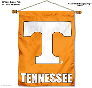 College Flags and Banners Co. Tennessee Volunteers Banner with Hanging Pole