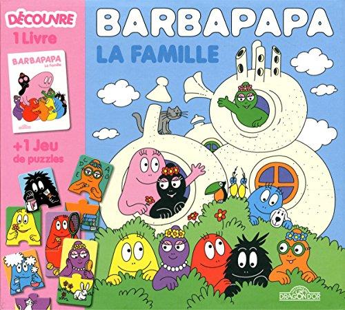 Boîte Barbapapa la famille : 1 livre + 1 jeu de puzzles