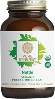Pure Synergy USDA Organic Freeze-Dried Nettle Leaf Powder (2.3 oz) Supports Healthy Histamine Levels During Allergy Season