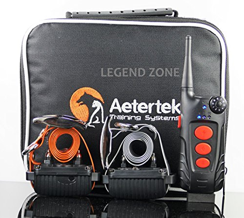 Aetertek AT-918C 2- DOG ELECTRIC REMOTE DOG PET TRAINING VIBRATE SHOCK COLLAR WITH AUTO ANTI BARK