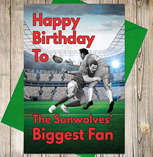 Geburtstagskarte–Die Rugby sunwolves Biggest Fan