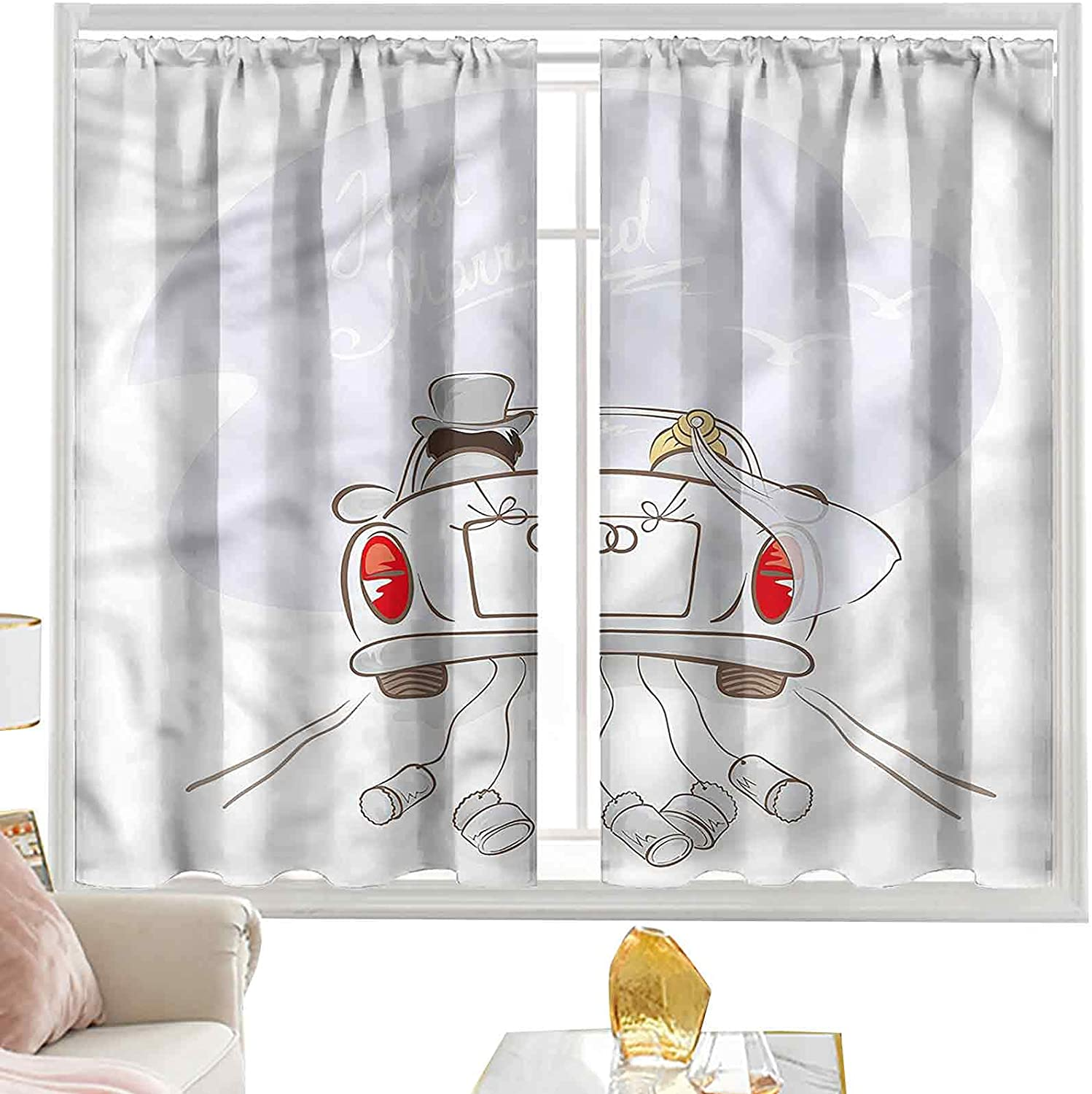 Insulating Curtains Wedding Now free shipping Retro Married Couple L63 x mart I Car W42